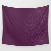 orchid Wall Tapestries featuring Orchid by puckerandpeck