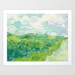 Green Wheat Fields - Auvers, by Vincent van Gogh Art Print