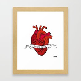 02 - TATTOO DEMASIADO CORAZÓN Framed Art Print
