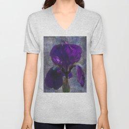 Captivating Iris Unisex V-Neck