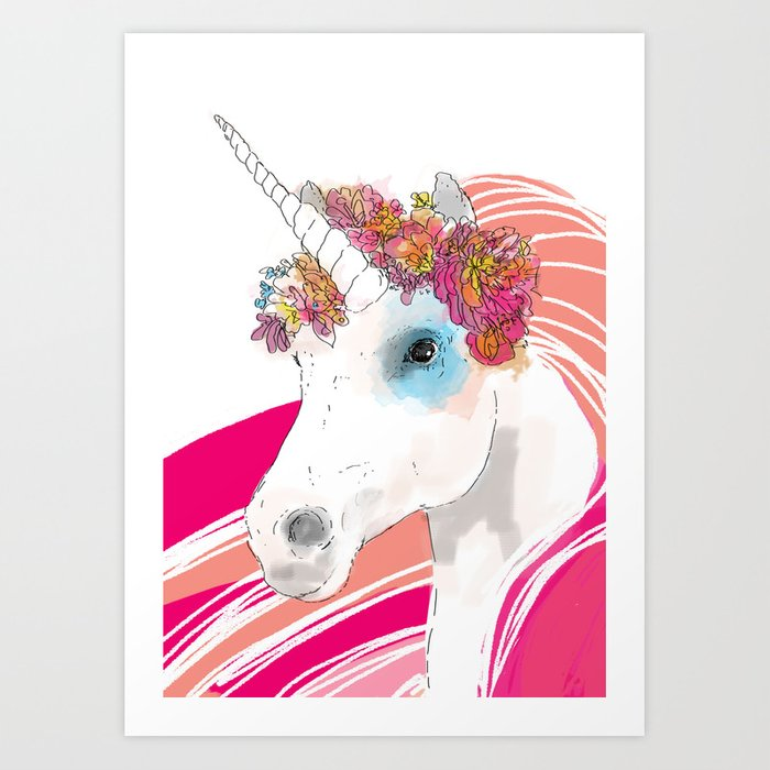 Unicorn Bright Art Print