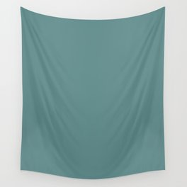Steel Teal - solid color Wall Tapestry