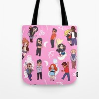teen wolf Tote Bags featuring Teen Wolf! by Madeoftin