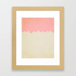 A Single Pink Scallop Framed Art Print