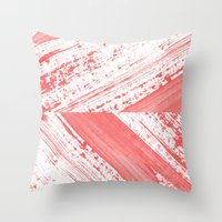 coral Throw Pillows featuring CORAL by LEEMO