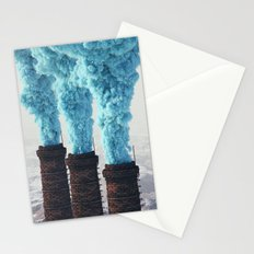 Blue Pollution Stationery Cards
