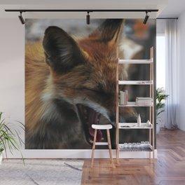 Sleepy Fox Wall Mural