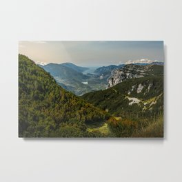 Sunset over the dolomites Metal Print