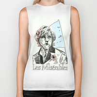 les mis Biker Tanks featuring Enjolras Les Mis Poster by Pruoviare