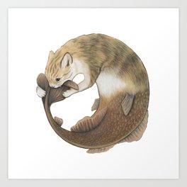 Meowmaid (Ouroboros) Art Print