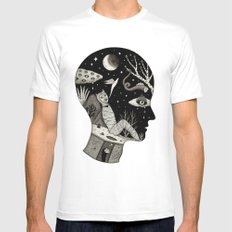 Distorted Recollection of a Dream About Death White Mens Fitted Tee SMALL