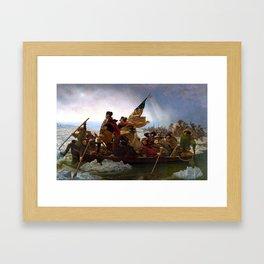 Washington Crossing The Delaware River Framed Art Print