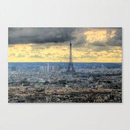Vivid Tour Eiffel  Canvas Print