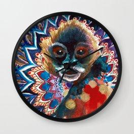 Monkey Floral Yoga Mandala Wall Clock