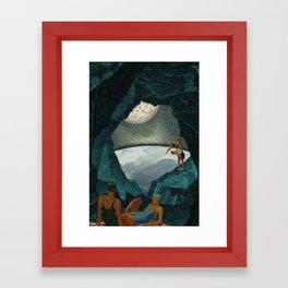 Space Spelunking Framed Art Print