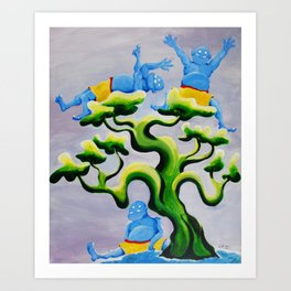 The Monsters Three Art Print