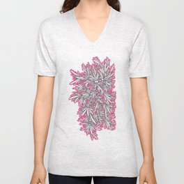Black Growth with Pink Unisex V-Neck