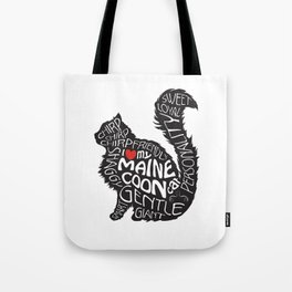 Maine Coon Lovers Black and White Tote Bag