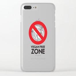 Vegan Free Zone Clear iPhone Case