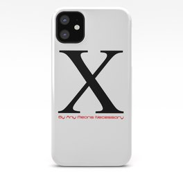 X - By Any Means Necessary Malcolm X in White Motif iPhone Case
