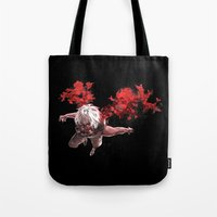 tokyo ghoul Tote Bags featuring Kaneki Tokyo Ghoul 5 by Prince Of Darkness
