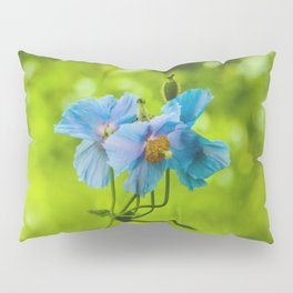 Blue Poppies Pillow Sham