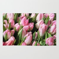 tulips Area & Throw Rugs featuring  Tulips. by Assiyam