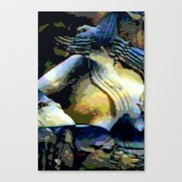 stone Canvas Prints featuring Stone by Stephen Linhart