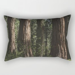Sunlit California Redwood Forests Rectangular Pillow