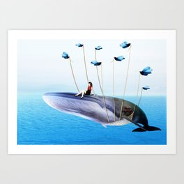 The girl on twitter's fail whale Art Print