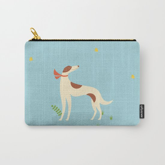Borzoi And Butterfly Carry-All Pouch