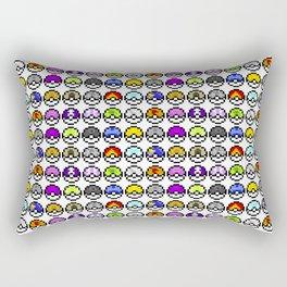 Pokeballs Pixel Rectangular Pillow
