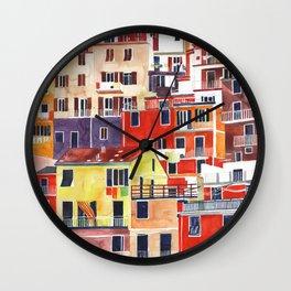 Cinque Terre vol 3 Wall Clock