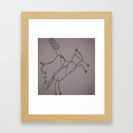 Headless Horseman - Stickfigure Style Framed Art Print
