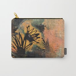 Grow Through It: sunflowers in the rain - abstract mixed media piece Carry-All Pouch