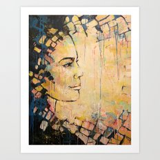 Looking to the Future -beautiful woman Art Print