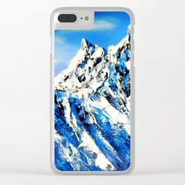 Panoramic View Of Everest Mountain Peak Clear iPhone Case