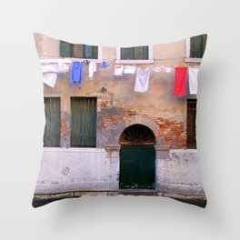 Laundry Line Throw Pillow