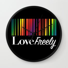 Love Freely Wall Clock