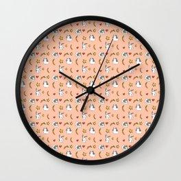 pierre pattern pink Wall Clock