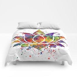 Lotus Flower 2 Watercolor Print Wall Art Wedding Gift Zen decor Comforters