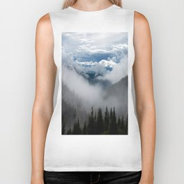 MOUNTAIN, FOREST AND FOG Biker Tank