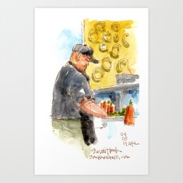 Sushi Chef Art Print