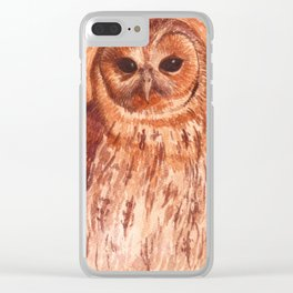 Tawny Owl Clear iPhone Case
