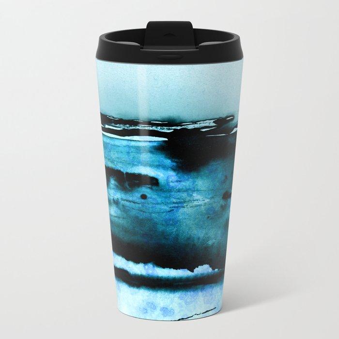 marine luminescence Metal Travel Mug