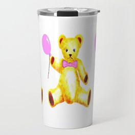 Teddy Bear Pink Travel Mug