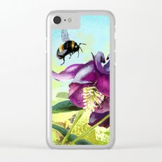Bee flying 14 Clear iPhone Case
