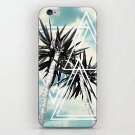 Cali Summer Vibes Palm Trees Geometric Triangles #1 #tropical #decor #art #society6 iPhone Skin
