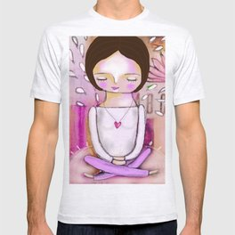 Om meditation woman T-shirt