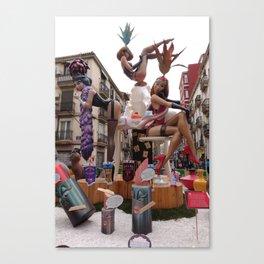 Fallas is an UNESCO world heritage Valencia, Spain Canvas Print